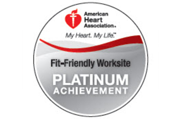 Logo for american heart association platinum achievement