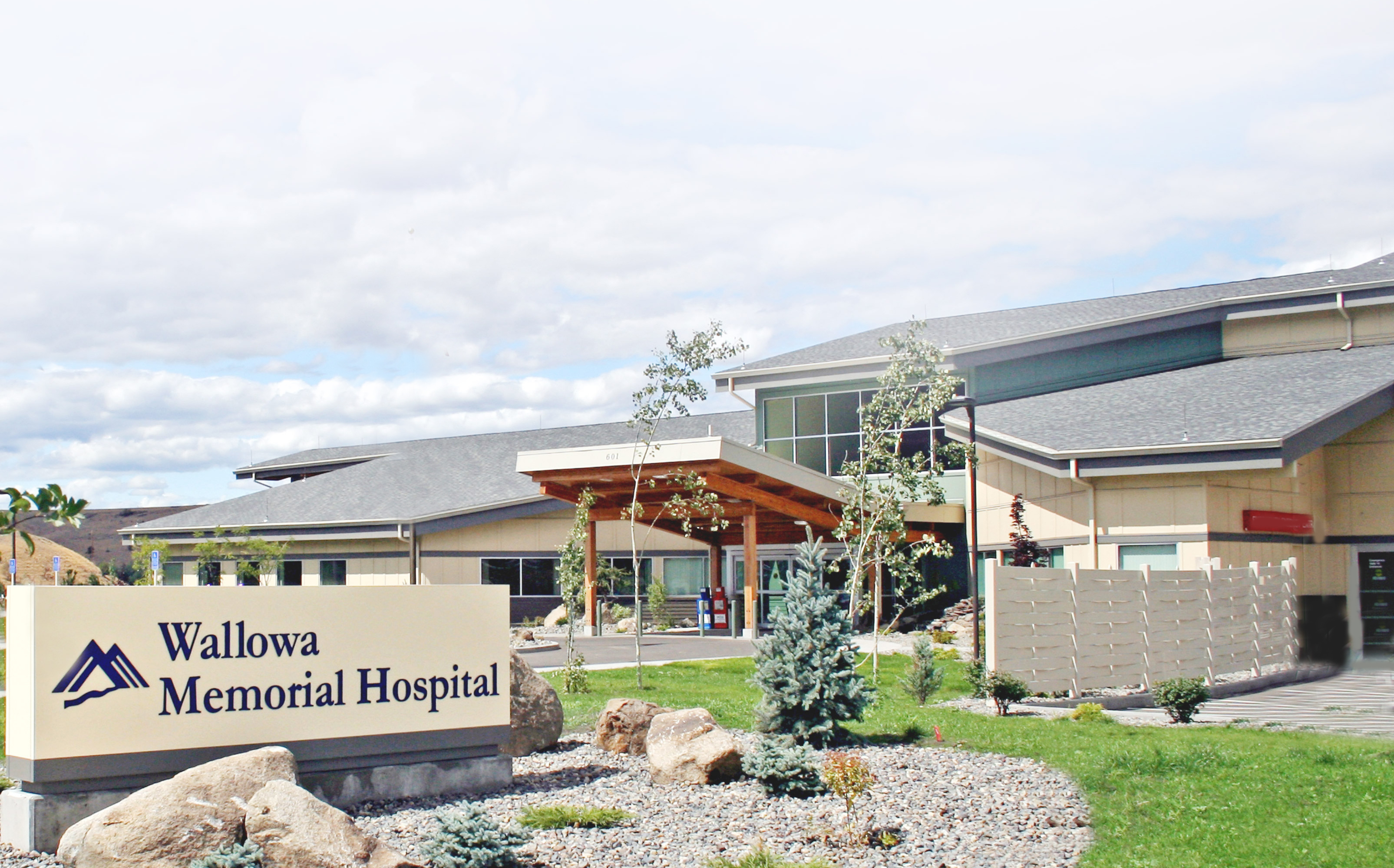 front of hospital
